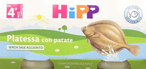 Hipp Omogeneizzato Platessa con Patate 24 vasetti da 80 g