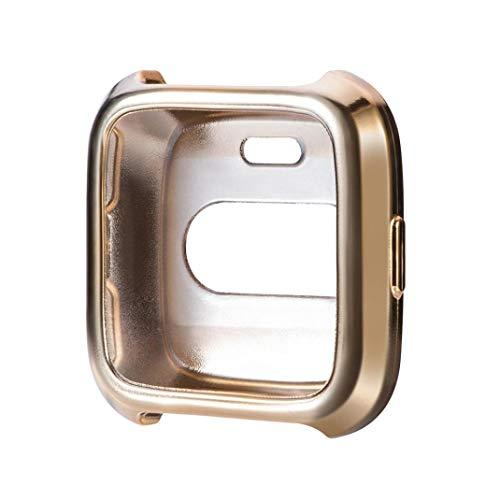Y56 TPU Schutz Case Cover für Fitbit Versa Ultradünne weiche Beschichtung Silikonhülle Hülle Schutzhülle schützen Shell (Gold) Gold Gehäuse Cover