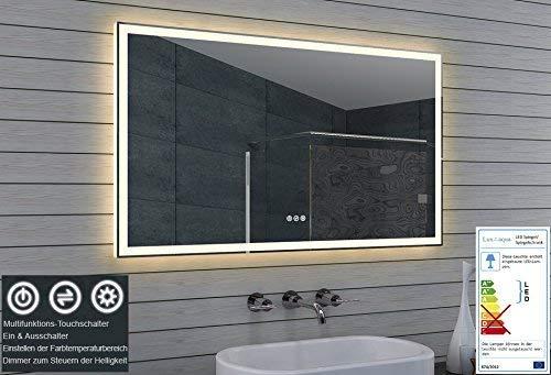 Lux-aqua LED Beleuchtung Badezimmerspiegel Kaltweiß/Warmweiß dimmbar ML120B70H