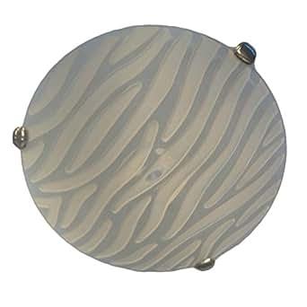 Plafonnier Sforzin bicolor blanc paille