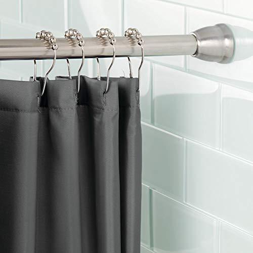 Mdesign bastone tenda doccia senza forare le pareti – bastoni per tende a pressione – accessori doccia tecnologia constant tension – asta telescopica 109,0-190,5 cm – colore: satinato/lucido