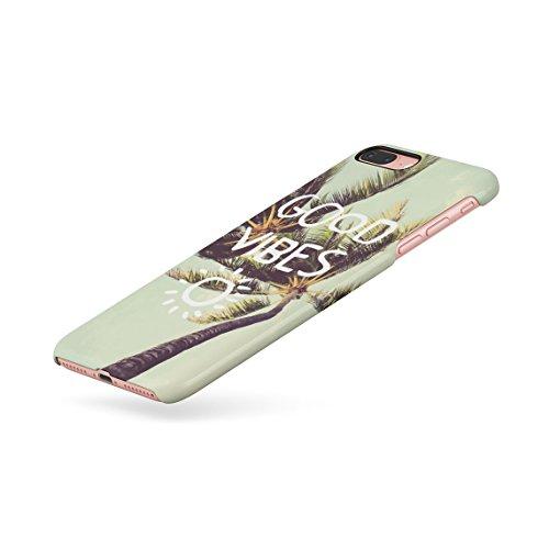 Trippy Blue Smoke Relax Dünne Rückschale aus Hartplastik für iPhone 7 Plus & iPhone 8 Plus Handy Hülle Schutzhülle Slim Fit Case cover Tropic Good Vibes