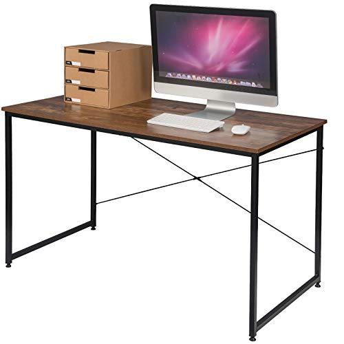EUGAD Schreibtische Computertisch PC-Tisch Bürotisch Arbeitstisch mit Bücherregal Holz 120x60x70 cm