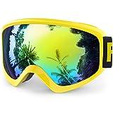 findway Masque de Ski Protection pour Enfant Lunette Ski Masque Ski OTG de Garçon ou...