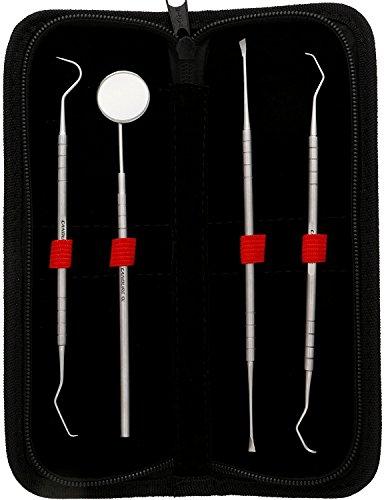 candurer-4-peice-gesetzt-dentaire-tartar-zeg-zahnplatte-spiegel-dental-grattoir-spiel-von-zahnarztli