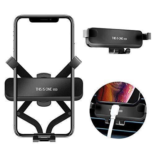 Semriver Handyhalterung Halter,360 Grad Magnet Auto Halterung für iPhone X/XS/XR/XS Max/8/7 Plus,Samsung S10+/S10/S9, Huawei (Schwarz) (Entsperrt Handys, Iphones)