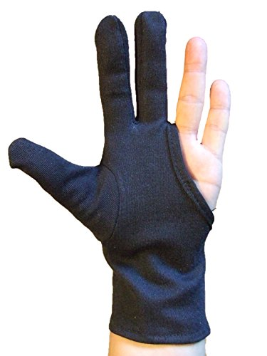 Profi Hitzeschutzhandschuh Handschuh hitzeresistent, für Lockenstab und Glätteisen, Schwarz, 1 Stück (S)