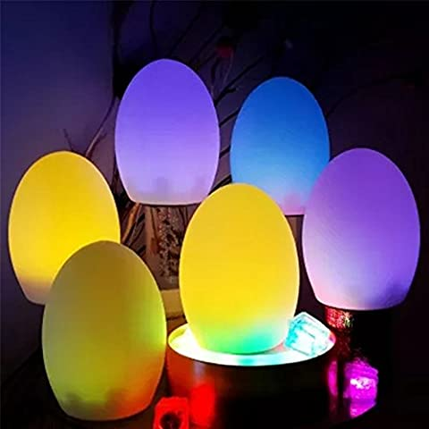 3Pcs Magic Mood Light Night Light Retro Light Decorative Light Color Changing Lamp Dimmable Waterproof RGB Light Rechargeable Egg Lamp with Remote Control for Coffee Bar Spa Restaurant Hotel Gifts