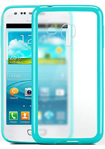 moex Samsung Galaxy S3 Mini   Hülle Slim Transparent Türkis Impact Back-Cover Dünn Schutzhülle Silikon Handy-Hülle für Samsung Galaxy S3 Mini S III Case TPU Tasche Matt