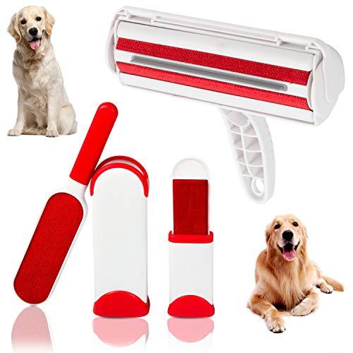 TopTiers - Rodillo removedor de Pelo de Mascotas Reutilizable para Ropa y Muebles, Cepillo para Eliminar el Pelo de Gato y Perro, removedor de Pelo de Mascotas con Cepillo de Pelusa autolimpiable.