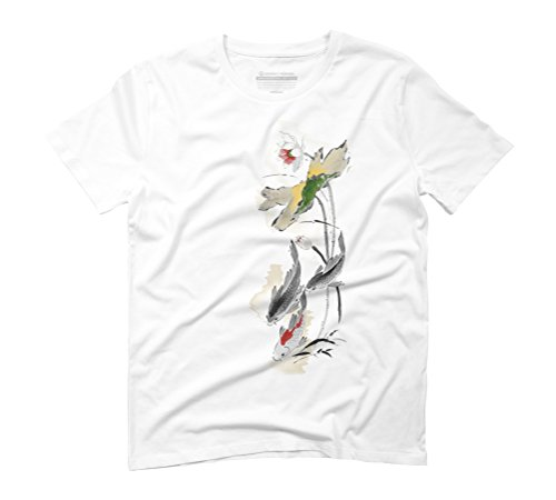 Loving Fishes Men's Large White Graphic T-Shirt - Design By Humans