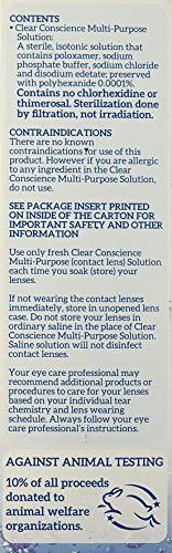 Clear Conscience Mehrzwecklösung für Kontaktlinsenflüssigkeit, 85 ml - 6