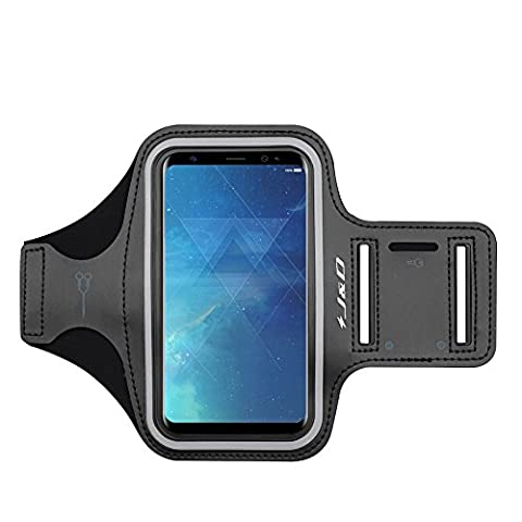Galaxy S8 Plus Armband, J&D Sports Armband for Samsung Galaxy S8 Plus, Key holder Slot, Perfect Earphone Connection while Workout Running -