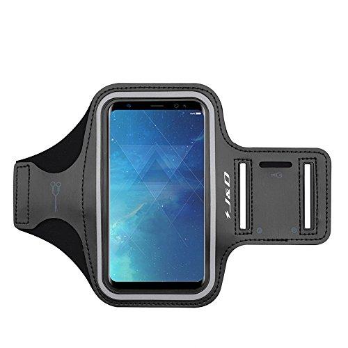 Galaxy S8 Plus Armband, J&D Sport-Armband für Samsung Galaxy S8 Plus, zusätzliche Tasche für Schlüssel, perfekte Kopfhörer-Verbindung für unterwegs - Schwarz