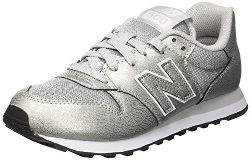 d1826b8729261 New Balance 500, Scarpe Sportive Donna, Argento (Silver/Silver Metallic  Mss), 36 EU