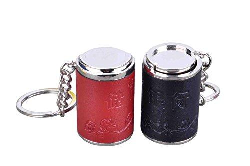 MZP Monedas de la cadena cadena llavero tubo de metal cerdito hucha monedas banco de tanques y cumpleaños cartera ideas para regalos personalizados negro