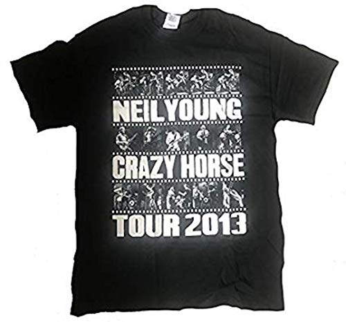 Official Neil Young - Photo Bande Tour 2013 - T-Shirt Officiel Homme - Noir, Large
