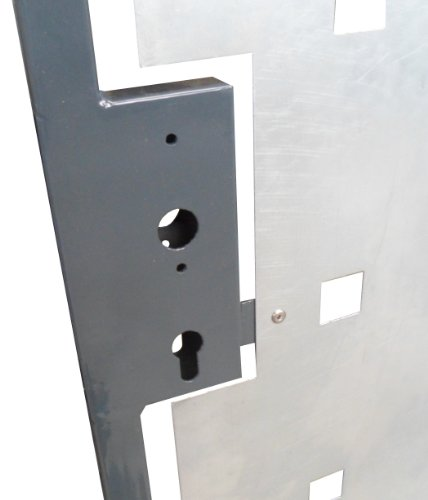 Gartentor Hoftor Tor Pforte verzinkt grau beschichtet Breite 105cm x Höhe 150cm