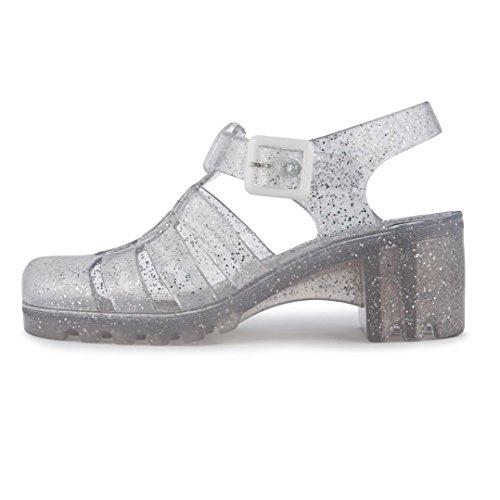 JuJu Donna Multi Glitter Babe Jelly sandali-UK 4