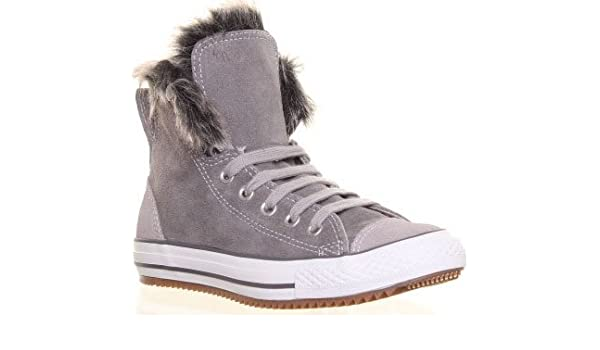 acbfc6e63c4 Converse CT Adults Climber Charcoal Grey Suede Leather Hi Tops with ...