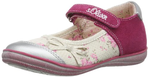 s.Oliver Casual 5-5-32622-22, Ballerine Bambina, Rosa (Pink (Fuxia Comb 599)), 32