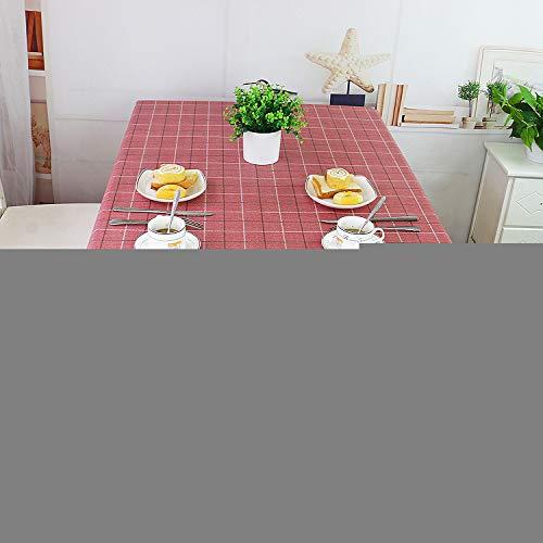 Feld Rot Karierten Kunststoff Wasserdicht Etable Tischtuch Anti-öl Anti-fouling PVC Anti-hochtemperatur Tee Tischtuch Einfache Tischdecke 135 X 200cm (Rot Karierten Tischtuch)