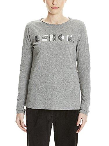 Bench Damen Langarmshirt Logo Longsleeve, Grau (Winter Grey Marl Ma1054), X-Small