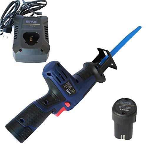 Sierra eléctrica de 12 V con batería recargable, sierra de calar y 2 baterías de litio
