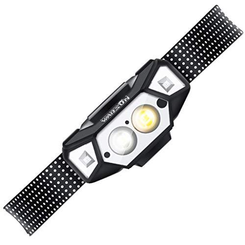 ADMIN Wasserdichte Led-Ladescheinwerfer Für Den Außenbereich - Starkes Licht Kopfmontierte Kleine Taschenlampe - Weißes Gelblicht Langstrecken-Sportabenteuer-Campingscheinwerfer