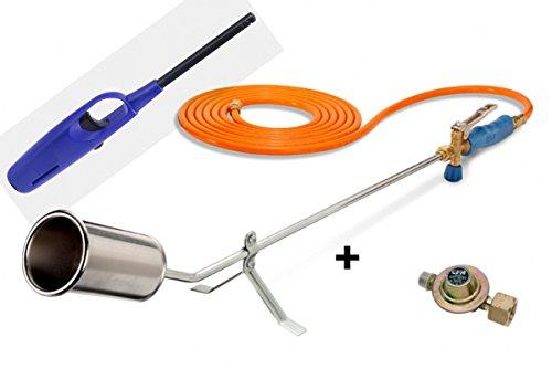 CFH Abflammgerät GV 900 inkl. Druckregler 2,5 Bar + Piezoanzünder-Stabfeuerzeug