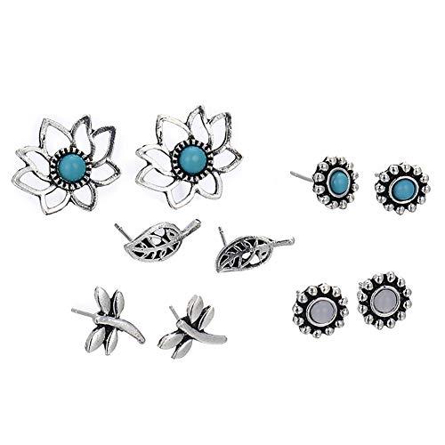 Vi.yo Ohrringe Ohrstecker Damen Ohrringe für Schmuck Ohrringe Spielzeug, 5 Paare, Legierung, Wie gezeigt, Wie gezeigt