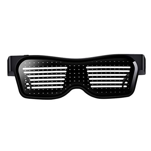 SoundJA Sonnenbrille,Fahrradbrille,Sportbrille,Sportsonnenbrille,Sonnenbrille Herren Polarisiert, LED Leuchtende Gläser Party Damen Herren Nachtclub DIY Blinkend