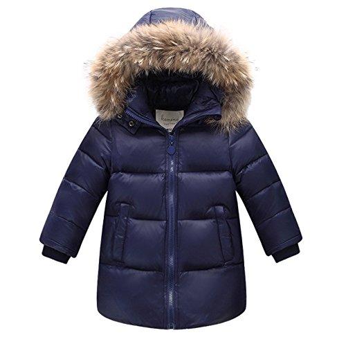 ACMEDE Childs Piumino Hood Colletto di Pelliccia Antivento Top Tunica di Riscaldamento