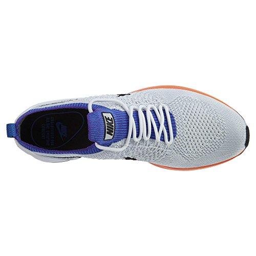 Nike Air Zoom Mariah Flyknit Racer, Scarpe da Ginnastica Donna Bianco-Azzuro-Arancione