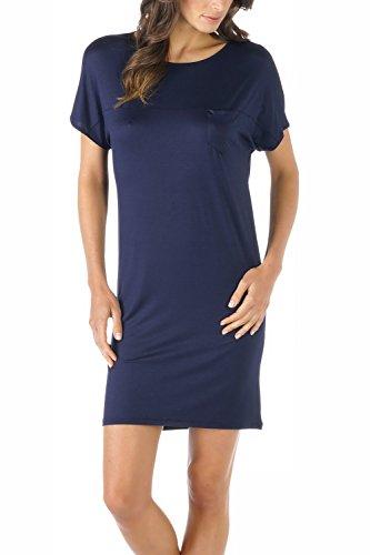 Mey Damen Nachthemd kurz 11933 Night Blue