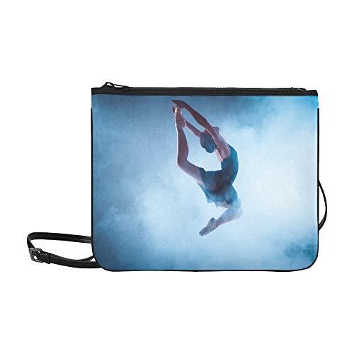 SHAOKAO Eine junge elegante Balletttänzerin Muster benutzerdefinierte hochwertige Nylon dünne Clutch Crossbody Tasche Umhängetasche