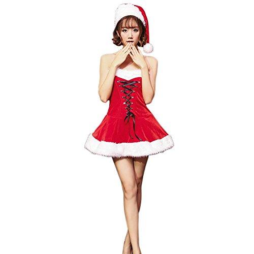 Outfit Frau Claus (Fxwj Weihnachten Kostüm Frauen Santa Fräulein Kleid Claus Kostüme Stomacher Bandage Stage)