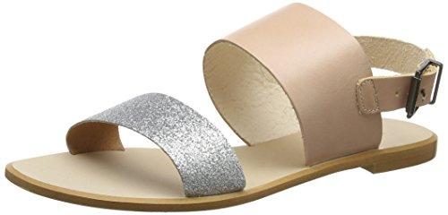 Shoe the Bear Women's Flora L Open Toe Sandals, Silver (Silver 210), 7 UK