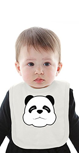Sleepy Panda Face Organic Baby Bib With Ties Medium (Sleepy Bear Tee)