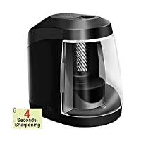 SMBOX Electric Pencil Sharpeners Battery Powered or AC Powered Pencil Sharpener With Container Electric Sharpener Automatic Pencil Sharpener for Colored No.2 Sketching Drawing Pencils