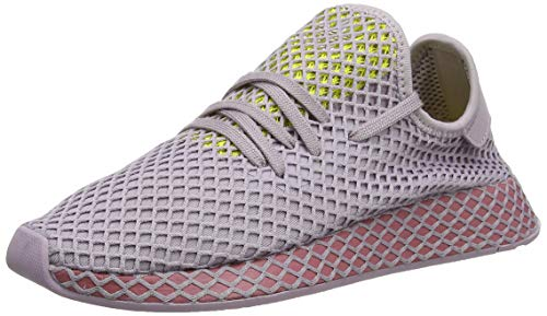 adidas Damen Deerupt Runner W Laufschuhe Pink Soft Vision/Trace Maroon/Shock Yellow, 38 EU