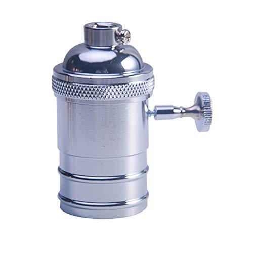 Vintage Edison Lampenfassung E26 E27 Fassung Deckenfassung Sockel Lampenfuß Retro Hängelampe Halter Pendelleuchte Adapter DIY Lampenzubehör(Silber) - Ips-adapter