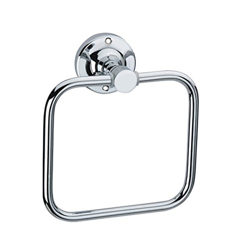 Siddhi hardware Towel Ring and Rod Napkin, Stainless steel, Chrome Finish, 200 g (Silver)