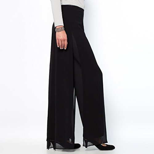 Anne Weyburn Donna Pantaloni Con Teli Nero