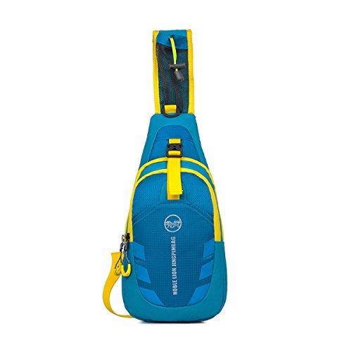 BULAGE Tasche Draußen Brusttasche Messenger Multifunktions Lässig Tragbar Päckchen Sport Taschen BlueYellow