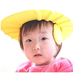 Shower Bathing Protect Soft Cap For Baby Children Kids Yellow Colour Pack of 1 (With Free Token)