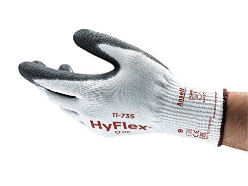 Preisvergleich Produktbild Ansell HyFlex 11-735 Schnittschutz-Handschuhe, Mechanikschutz, Weiß, Größe 8 (12 Paar pro Beutel)