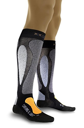 X-Socks Funktionssocken Ski Carving Ultralight, Black/Orange, 39/41, X020022 (Ultralight Ski-socken)