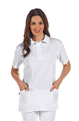 clinicfashion 12812010 Polo-Schlupfhemd weiß für Damen, Mischgewebe, Größe L