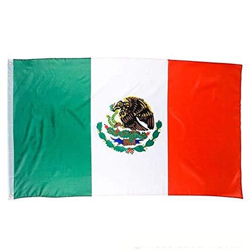 Kidsco Mexikanischen Flagge-3x 5ft. Cool und Fun Bright Farbe Nicht Verblasst Header Mexikanischen Polyester Flagge-Neuheit Toys, Party Dekorationen, Verlosungen, Cinco De Mayo